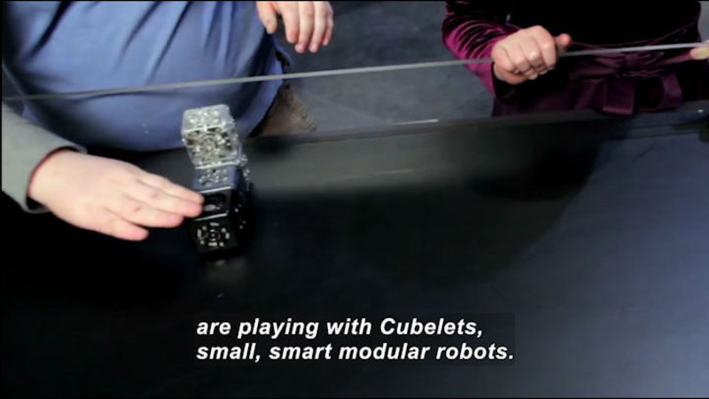 Still image from Science Nation: Cubelets--Small Robots Teach Big Science Lessons