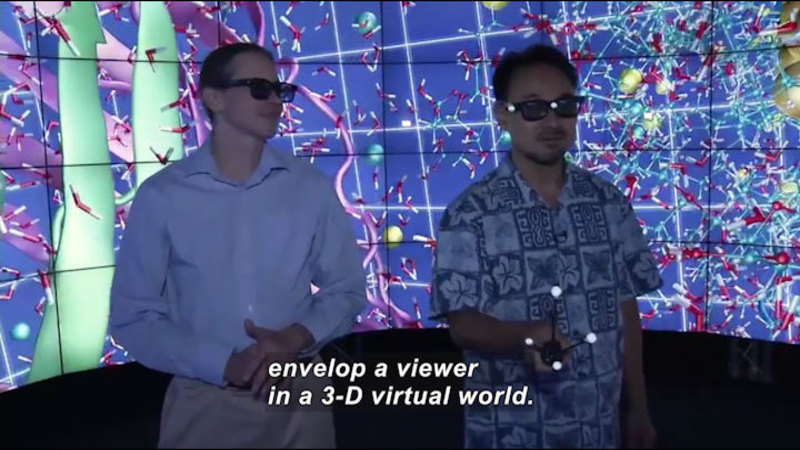 Still image from Science Nation: CAVE2 Immerses Scientist and Engineers in Their Research
