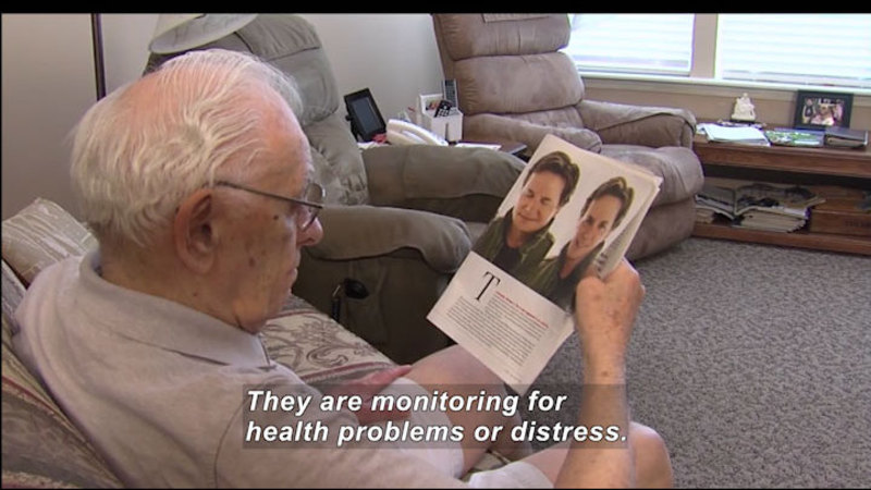 Still image from Science Nation: Home Sensors Enable Seniors to Live Independently