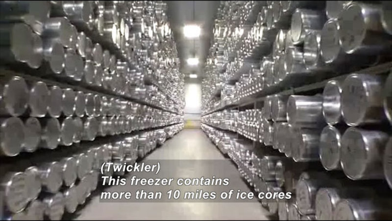 Still image from Science Nation: National Ice Core Lab Stores Valuable Ancient Ice
