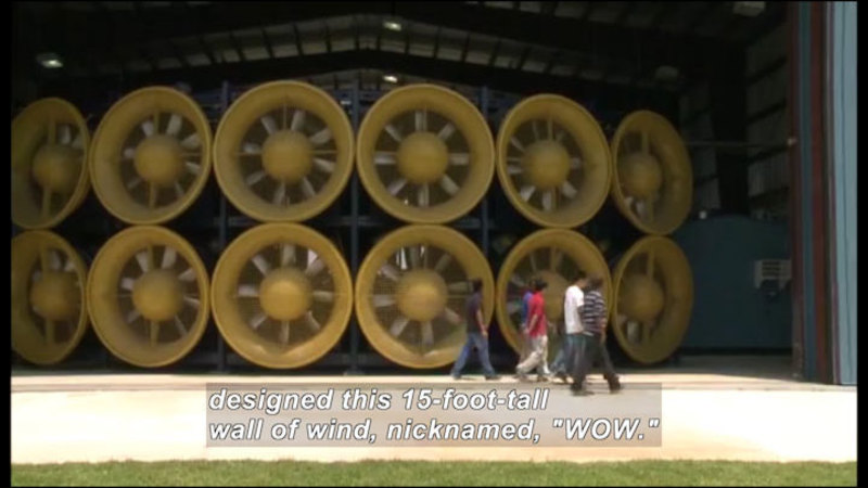 Still image from Science Nation: ManMade Wall of Wind Creates Hurricane Force Winds to Test Construction