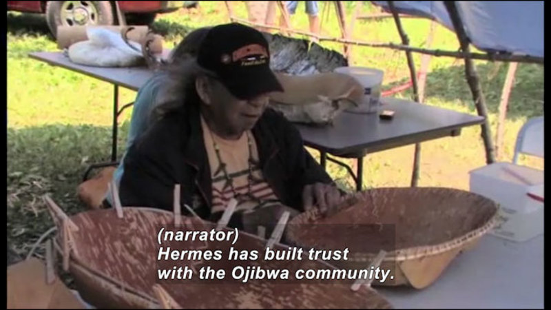 Still image from Science Nation: New Home Movies Resurrect Endangered American Indian Language