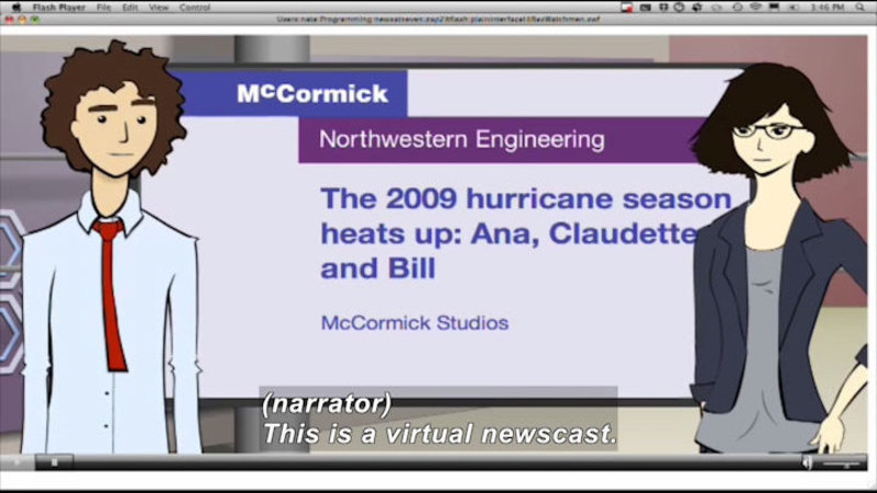 Still image from Science Nation: Virtual Newscast