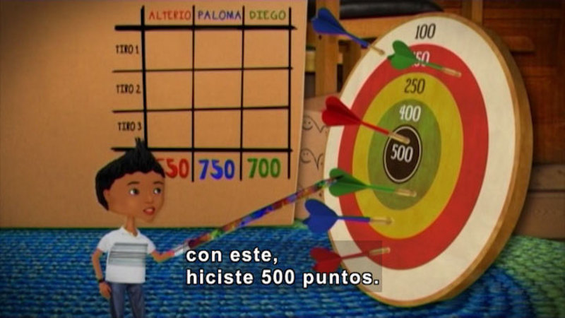 Still image from Through More Adventures: Target Practice (Spanish)