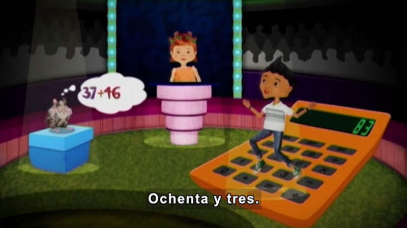 Still image from Through More Adventures: Diego, The Calculator (Spanish)