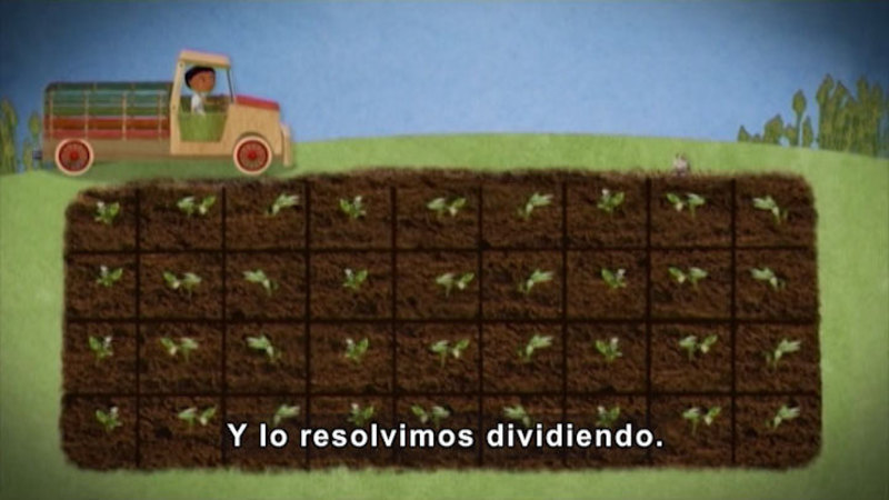 Still image from Through More Adventures: Working On The Vegetable Garden (Spanish)