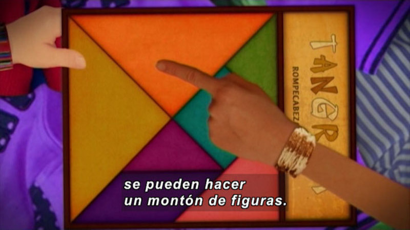 Still image from Through More Adventures: Chinese Puzzle (Spanish)