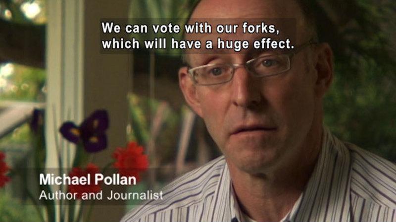 Still image from Michael Pollan: The Farm Bill