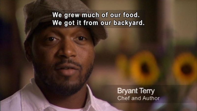 Still image from Bryant Terry: My Food Journey
