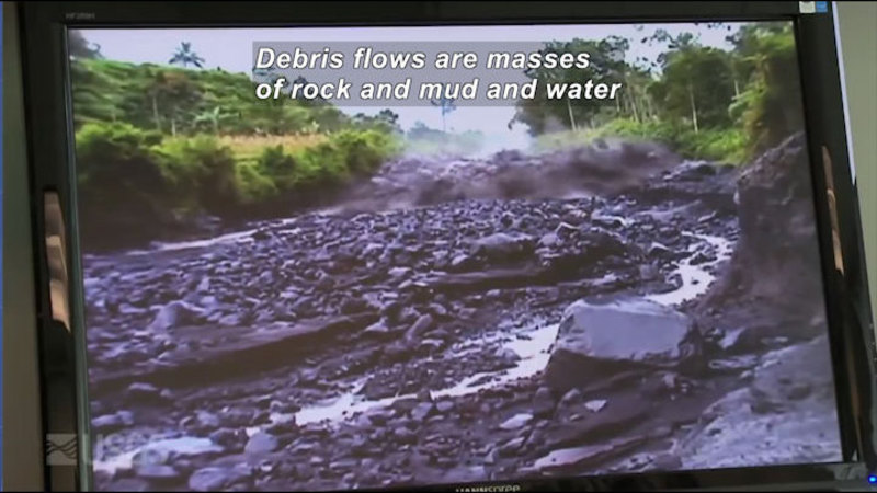 Still image from Volcano Web Shorts 2: Debris Flows
