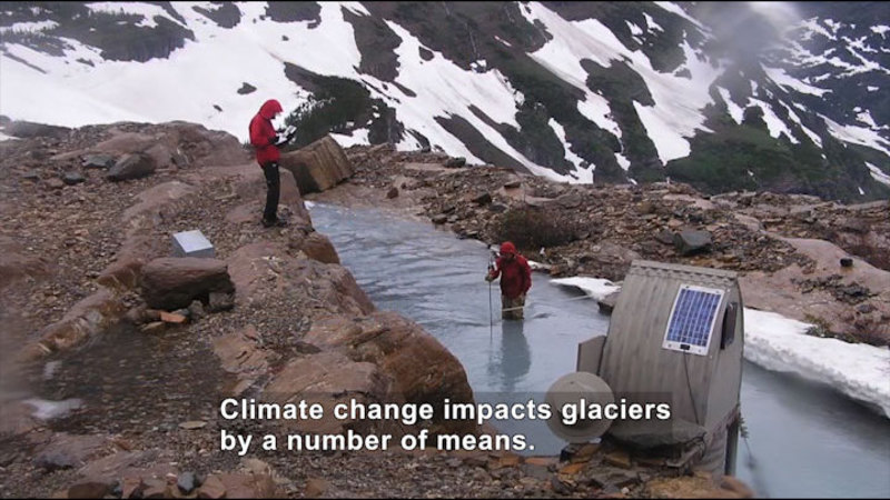 Still image from Climate Connections: Questions From Glacier National Park, MT