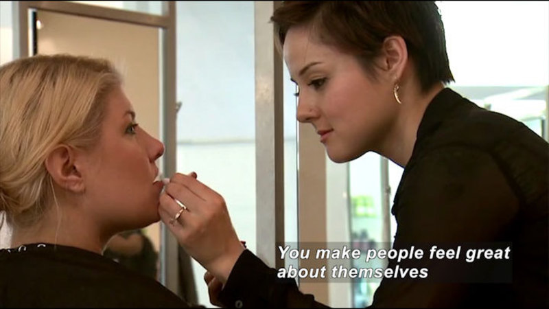 Still image from Career Connections: Cosmetology