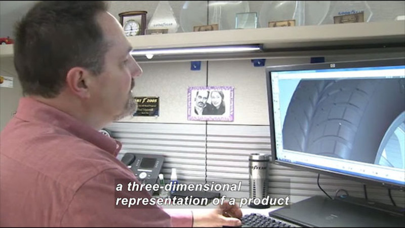 Still image from Career Connections: Automotive Tire Designer