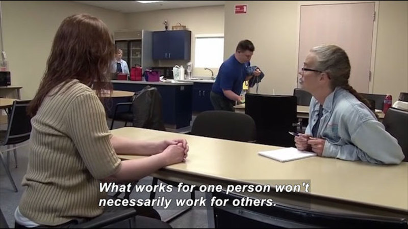 Still image from Career Connections: Developmental Disabilities Worker