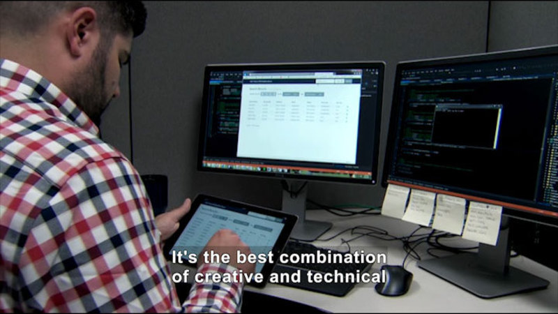 Still image from Career Connections: Software Developer (O'Neil & Associates)