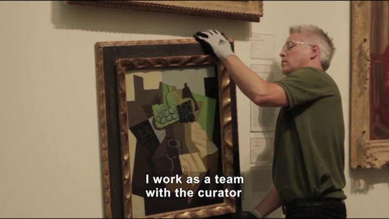 Still image from Career Connections: Museum Exhibitions Preparator