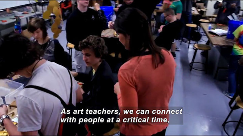 Still image from Career Connections: High School Art Teacher