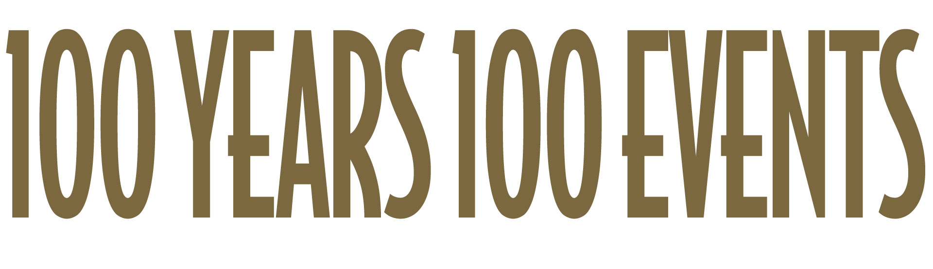 100 Years, 100 Events