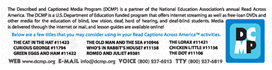 RCAA Bookmark back side in PDF format